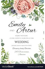 Wedding Invitation With Photo Wedding Invitation Invite Save The Date Floral
