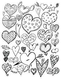 Hearts Coloring Page Rosaarturcom