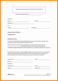 employee warning forms employee disciplinary action form template business