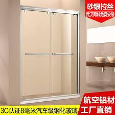 type of sliding door custom field type shower room partition door bathroom tempered glass moving door