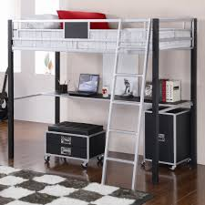 image of coaster leclair twin loft bed with desk 460281 jpg