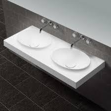 lavabo suspendu double vasque moulees solid surface blanc mat 120x50 cm origin jpg
