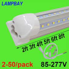 Green Led Tube Lights 2 50 Pack V Shaped Led Tube Lights 2ft 3ft 4ft 5ft 6ft 8ft