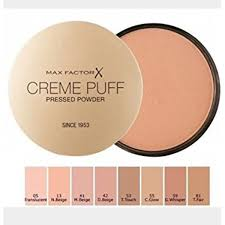 Max Factor Creme Puff Colour Chart Max Factor Creme Puff Pressed Powder 53 Tempting Touch 21g