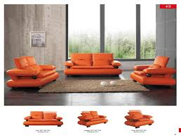 Modern Living Room Set 410 Leather Modern 3 Pcs Sets Living Room Furniture