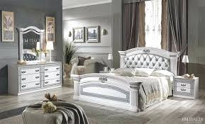 italian style bedroom furniture. Classic Italian Bedroom Furniture Set White  Silver Traditional Style .
