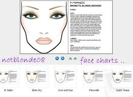 Mac Cosmetics Face Charts And Pre Launched Looks