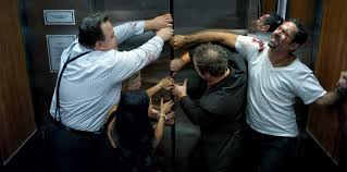 awkward people in elevator. awkward people in elevator