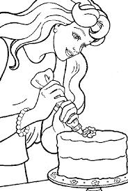 Gallery Of Barbie Da Colorare Disegni Cucina Da Stampare Mobili