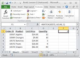 Ms Excel How To Use The Match Function Ws