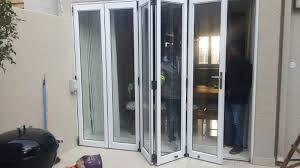 glass and aluminium stacking doors repairs