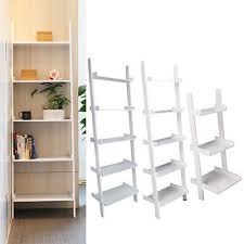 display shelving units awesome 3 5 tier wooden wall rack leaning ladder shelf unit of display shelving