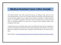 Download Medical Assistant Cover Letter Sample Pdf Www