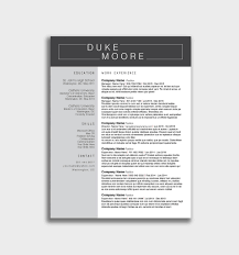 Classic Resume Template Cover Letter Docx Cv Sample Download Free