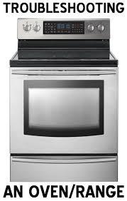 oven repair oven range troubleshooting