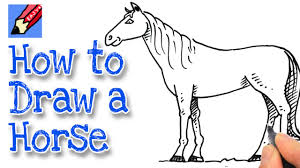 horses drawings easy.  Horses How To Draw A Horse Real Easy In Horses Drawings R