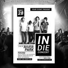 Concert Flyers Templates Indie Music Concert Flyer Template For Free Download On Pngtree