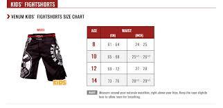 Venum Size Guide Venum Com Us