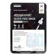 <b>Голографическая серебряная маска</b> для лица с гиалуроновой ...
