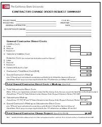Project Change Order Template Request For Change Order Template Construction Elsolcali Co