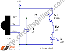 ir transmitter and receiver circuit for best remote control system ir sensor circuit