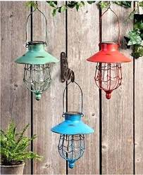 solar lantern lights hanging solar lantern outdoor garden led lamp powered yard lights landscape new