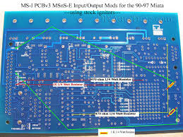how to megasquirt your mazda miata diyautotune com note if you re modding up an ms i pcbv2 2 ecu you can use the documentation at this link to use your stock ignitors the above info is for the pcbv3 0 ecu