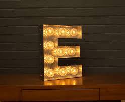 letter lighting. light up marquee bulb letters e letter lighting