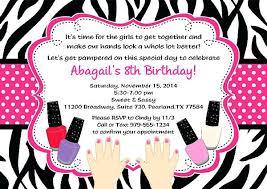 Free Spa Party Invitations Spa Party Invitation Template Girl