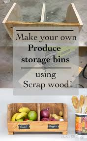 easy diy vegetable storage bin with divider perfect beginner woodworking project s wood project