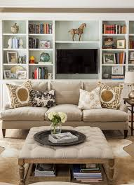 New England Living Room New England Home House Tours Trays And Built Ins