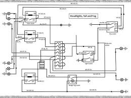 wiring diagram lights headlight tail and fog wiring
