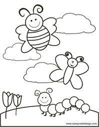 Springtime Coloring Page Preschool Items Juxtapost
