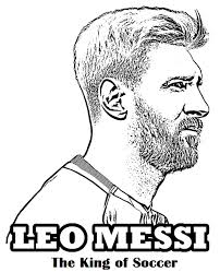 Messi The King Of Football Soccer Coloring Page Sport Coloring