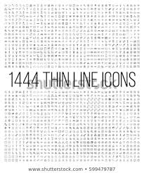 Стоковая векторная графика «Exclusive 1444 Thin <b>Line</b> Icons <b>Set</b> ...