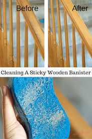 cleaning sticky wooden banisters with murphy s oil soap is easier than i thought here are