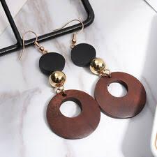 <b>Wooden Bohemian</b> Costume Earrings for sale   eBay