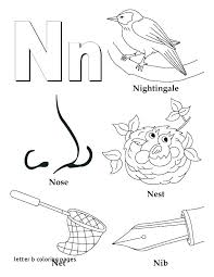 Letter N Preschool Letter B Coloring Pages For Preschoolers Letter B