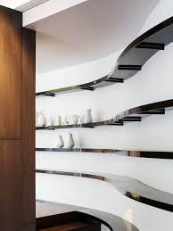 Contemporary hallway idea in Kansas City with white walls