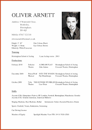 Acting Cv Template 2424 actors cv template resumetem 1