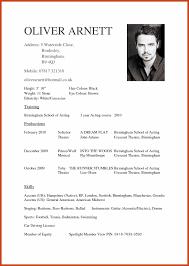8 9 Actors Cv Template Resumetem