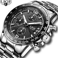2018 <b>New LIGE Mens Watches</b> Top Brand Luxury Stopwatch Sport ...