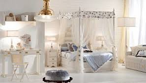 feminine bedroom furniture bed: unique puff under traditional pendant lamp in cool beautiful girl room with fabulous canopy bed