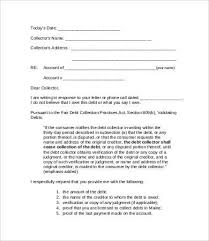dept collection letter debt collection letter template debt collection letter