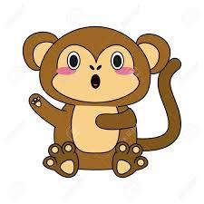 Monkey Graphic Design Cute Monkey Cartoon Icon Vector Illustration Graphic Design