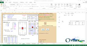 Pile Design Spreadsheet Pile Cap Design Spreadsheet To Bs 8110 1997