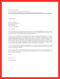 Sample Cover Letter For High School Teaching Position Written