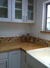 astounding kitchen and bathroom decoration with beach glass tile backsplash astounding kitchen design ideas using