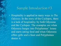 the odyssey hospitality essays ppt 5 sample introduction