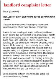 Complaint Letter To Landlord Template Complaint Letter Template Landlord Complaint Letter